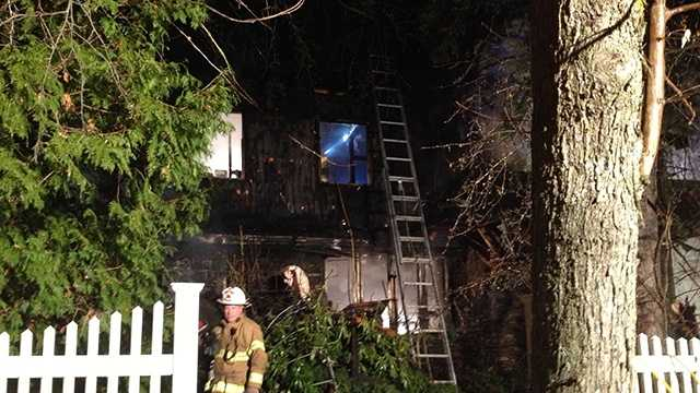 Firefighters battle 2-alarm blaze on Artemas Road in Shrewsbury