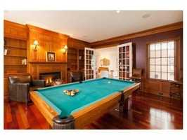 A billiard room.