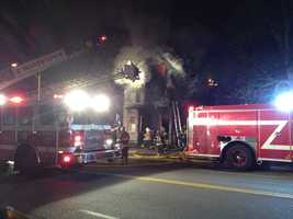 The blaze broke out on Galen Street just before the evening commute.