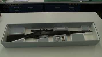 Lee Harvey Oswald's Mannlicher-Carcano rifle that he used to assassinate President John F. Kennedy