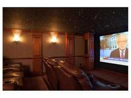 The home theatre.