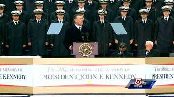"Dallas Mayor Mike Rawlings wanted the city's event to focus ""in a positive way more on the legacy of President Kennedy."