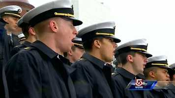 "The Navy Glee Club sings ""America the Beautiful"""
