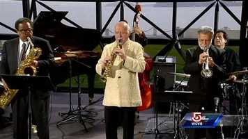 Award-winning saxophonist Paul Winter and the Paul Winter Sextet performs at the JFK Library in Boston