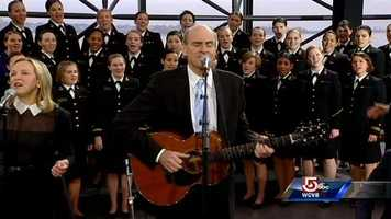 James Taylor performs with the Naval Glee Club