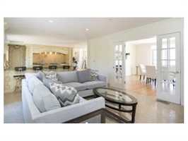 Thefamily room is adjacent to an extraordinary professional grade kitchen.