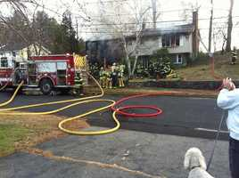 Firefighters responded Saturday afternoon to a fire at 10 Stanley Drive in Framingham.