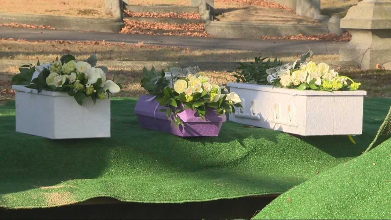 Church holds funeral mass for abandoned babies