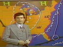 Harvey Leonard forecasting the blizzard of 1978.