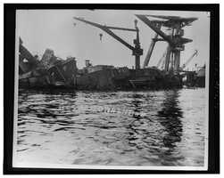 USS Arizona, Submerged off Ford Island, Pearl Harbor