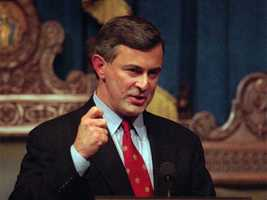 Former Massachusetts Gov. Paul Cellucci died on June 8 after battling Lou Gehrig's disease. He was 65.