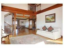 The home has mahogany woodwork and vaulted redwood ceilings.