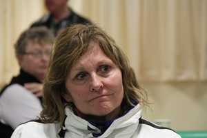 As is Ann LePage, the wife of Maine's governor. This year she is making the trip as passenger on one of the motorcycles that escorts the trucks carrying the wreaths.