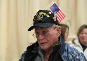 Veteran Barry Hamilton of Port Yarmouth, Maine is accompanying the group from Maine to Arlington National Cemetery.