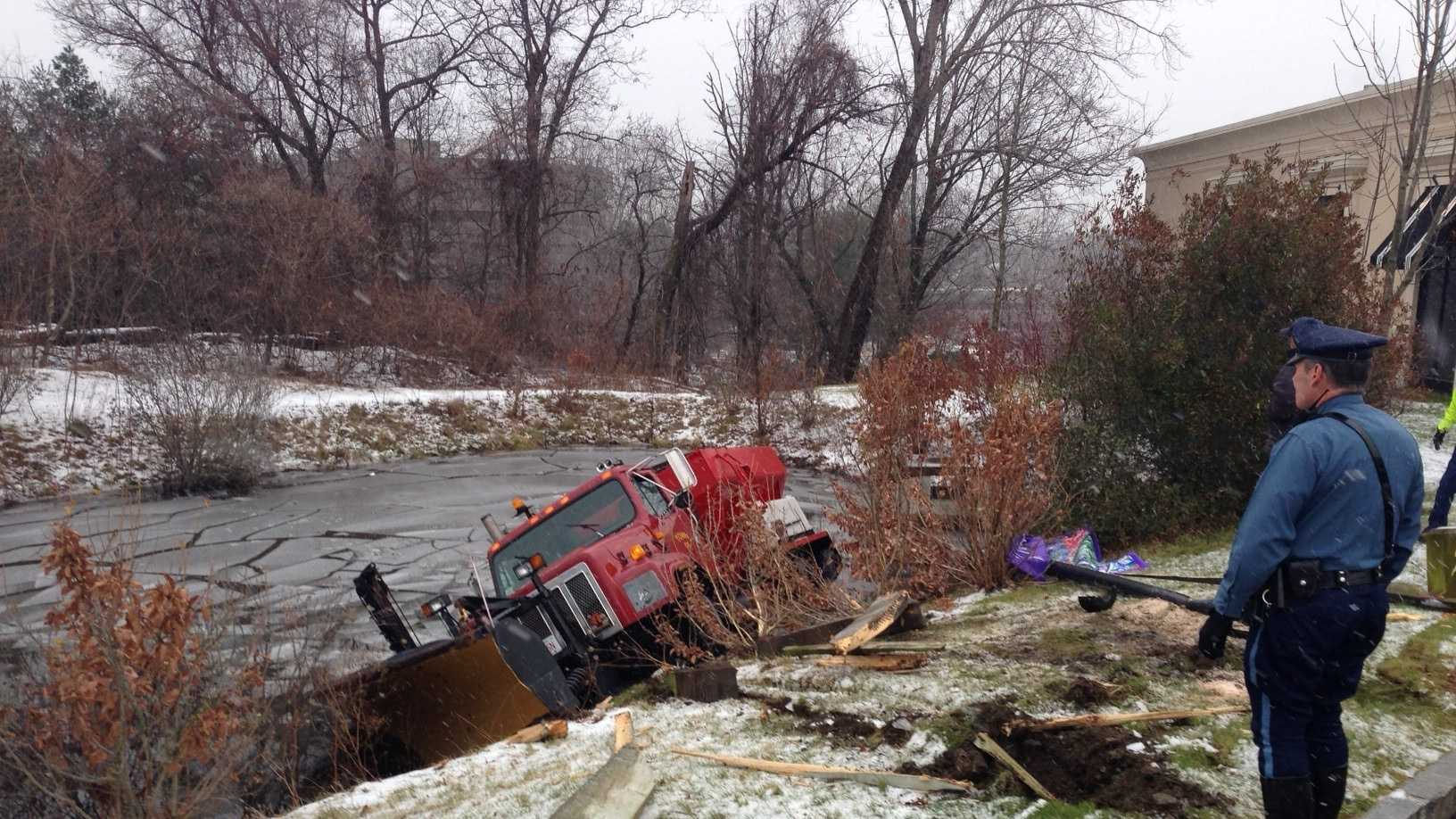 Sander plow crash