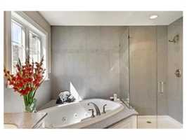 A renovated spa bathroom.