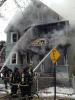 Boston firefighters responded to the hom at24 Moultrie St. in Dorchester at 11:48 a.m.