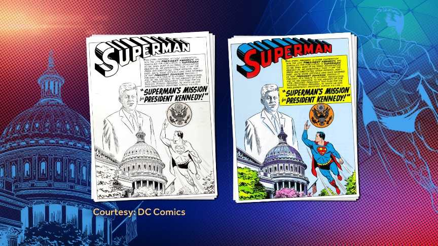 JFK Superman Comic Art 121813