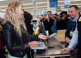 Her appearance came just days after Walmart's competitor, Target, announced they would not be carrying her new album.