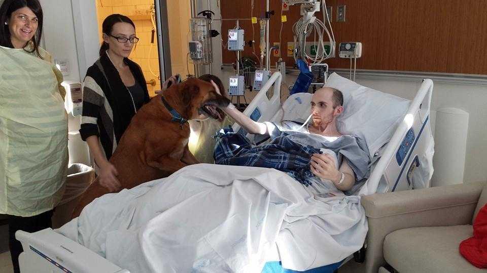 Michael Petrosino Dog Visit 122313