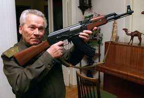 Mikhail Kalashnikov started out wanting to make farm equipment, but the harvest he reaped was one of blood as the designer of the AK-47 assault rifle, the world's most popular firearm. (10 November 1919 – 23 December 2013)