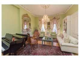 The home offers Back Bay elegance in the heart of Charlestown.