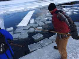 The ice harvest has been undertaken for more than 100 years.