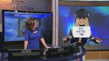 He helped deliver the morning weather forecast!