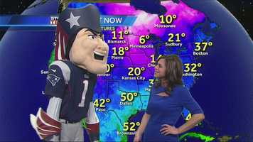 He took a look at the temps in Denver, where the Pats are playing the Broncos.