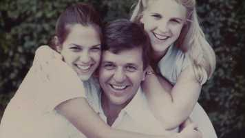 Chet with daughters Dawn and Dana.