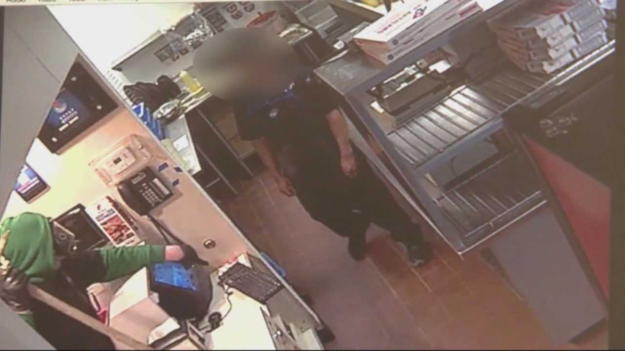 Man used pickaxe to rob pizza shop, police say
