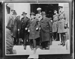 Sacco and Vanzetti being taken from jail to court