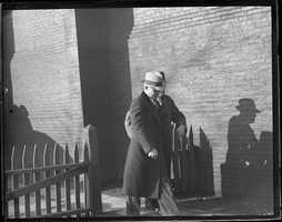 Alexander Kaminski goes to the death chamber at the Charlestown state prison in 1935.  He was 25 and had been sentenced to death for murder.
