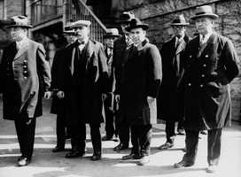 The trial in 1921 resulted in the men's conviction, despite testimony from witnesses who claimed Sacco had been in Boston's North End and Vanzetti in Plymouth on the day of the robbery.