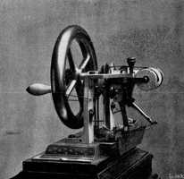 Elias Howe of Boston invented the first sewing machine in 1845.