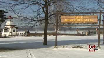 Memphre, the legendary sea serpent, is said to reside in the lake on the Vermont/Quebec border.