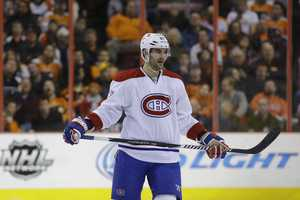 Max Pacioretty, of New Canaan, Conn., is on the men&#x3B;s ice hockey team. He also plays for the Montreal Canadiens.