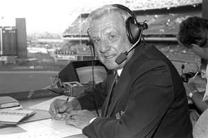 Ralph Kiner slugged his way to the baseball Hall of Fame and then enjoyed a half-century career as a popular broadcaster. When he retired, Kiner was sixth on the career home run list. Several years later, he joined the broadcast crew of the New York Mets for their expansion season in 1962 and became a permanent fixture - the home TV booth at Shea Stadium was named in his honor. Known for malaprops - he once even forgot his own name on air - he took the occasional slips in stride.(October 27, 1922 – February 6, 2014)