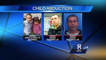 Police said that 3-year-old Erielys Ahorrio and a 4-year-old John Ahorrio were abducted from a residence in Pennsylvania and may  have been headed to Massachusetts.  They were found in Philadelphia.