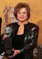 Shirley Temple Black poses with the Screen Actors Guild Awards 42st annual life achievement award at the 12th Annual Screen Actors Guild Awards on Sunday, Jan. 29, 2006, in Los Angeles.