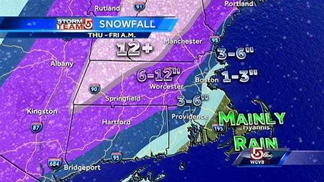 Snowfall map 2.12 5PM