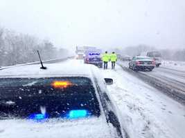 State police have reported several crashes and spinouts across the region Thursday.