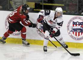 Kacey Bellamy, of Westfield, Mass., is on the women's ice hockey team. She graduated from UNH in 2009.