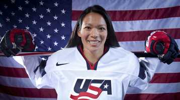 Julie Chu, of Fairfield, Conn., is on the women's ice hockey team.
