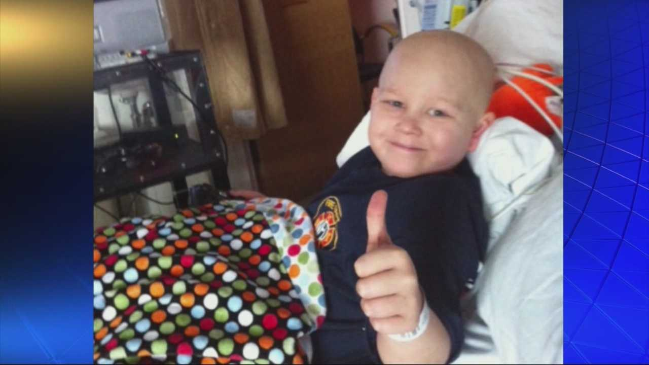 Outpouring from first responders for boy with leukemia