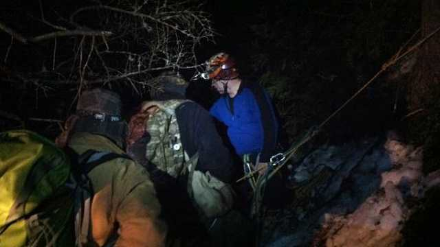 Boy Scouts rescued Maine 2.23.14