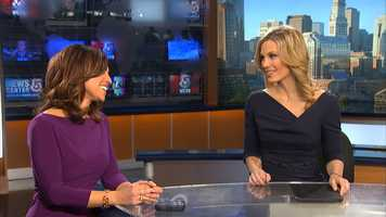 Erika, seen on the set with Cindy Fitzgibbon, began her television career as a production assistant at WHDH-TV. Her first on-air job was at News 12 The Bronx where she shot and edited her own stories.