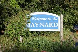 #43 Maynard.  The median price for a single family home in 2013 was $319,500.