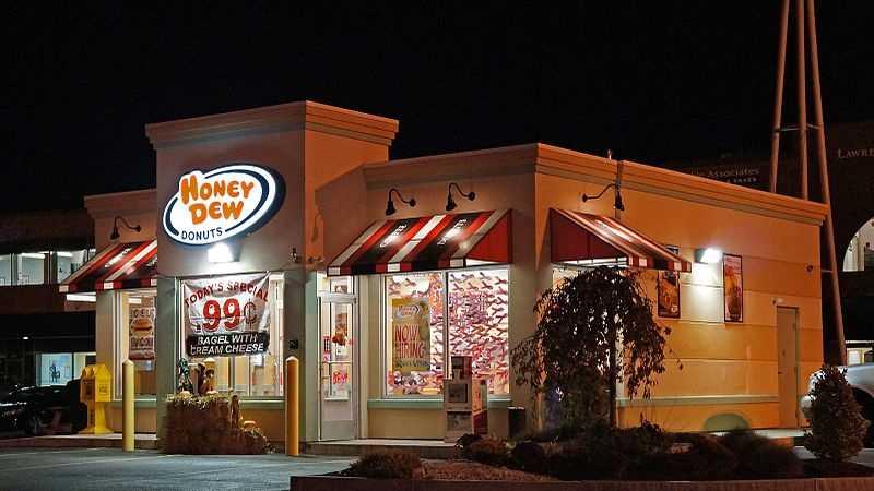 Honey Dew Donuts nightime still 02.27.14