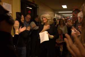 Following the news, the entire staff of NewsCenter 5 lined the hallways, and applauded as Susan walked off the set for the final time.